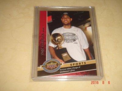 美國職籃 NBA Spurs Tim Duncan 2009 Upper Deck #1830 球員卡