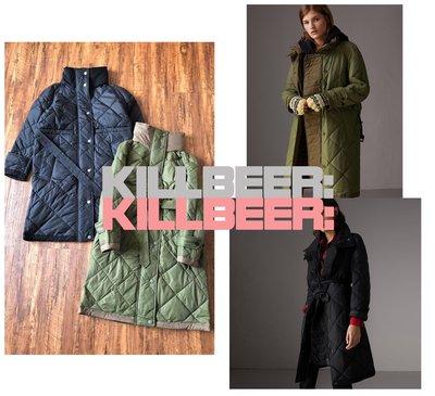 KillBeer:代購✈✈經典英倫Burberry風格歐美小香風菱格紋機能型鋪棉保暖立領連帽長版風衣外套大衣111102 新北市