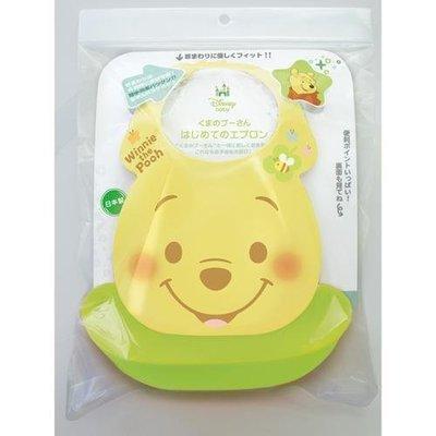 日本製兒童迪士尼立體防水圍兜 有四段調整脖子的設計 矽膠不易沾髒汙好清洗  寶寶吃飯好開心