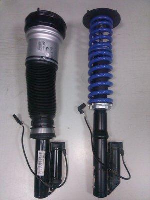 BENZ   W220/S320/S350氣壓式避震器維修改成鋼製彈簧/高低可調/原車電子軟硬可調不變