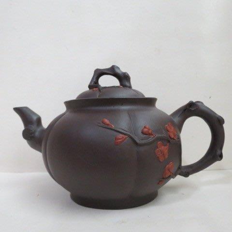[ 廣緣-茶壺 ] 多孔   中國宜興梅樹茶壺 ** 可議價 **