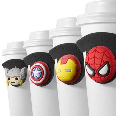 【Bone】環保杯綁Cup Tie-美國隊長 漫威英雄系列 現貨 可水洗 矽膠 可折 減塑 杯袋 提袋 飲料 手搖