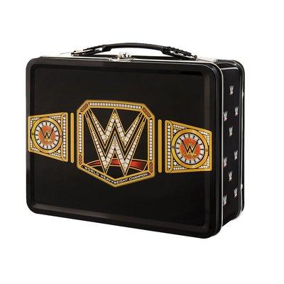 ☆阿Su倉庫☆WWE摔角 World Heavyweight Championship Lunch Box 造型便當盒