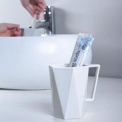 ☜shop go☞  情侶杯 隨手杯 茶杯 水杯 馬克杯 居家 杯子 塑膠 幾何 刷牙杯 菱形 漱口杯【L050-2】