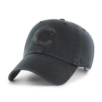 【血拼妞】 47 BRAND CHICAGO CUBS CLEAN UP 芝加哥小熊 棒球帽 全黑色《預購》