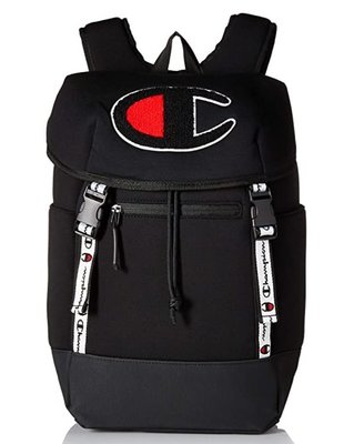 預購 美國帶回 Champion 大LOGO款 全黑後背包 登山包 書包 運動 休閒 露營包