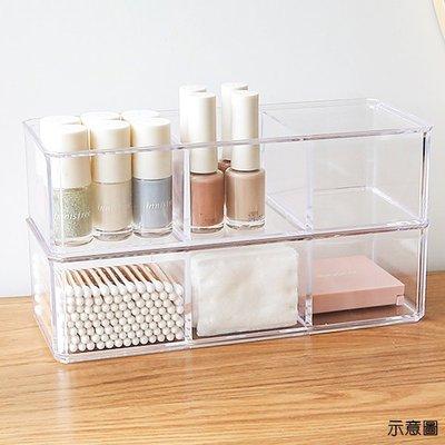 收納盒 (3格無蓋)高級壓克力彩妝收納...