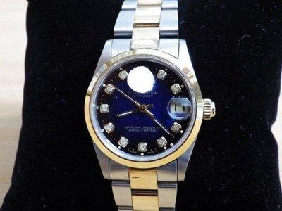 正ETA機芯 K金錶帶不褪色/ROLEX 16233 69173 68273 68274 CARTIER18K金漸藍面板