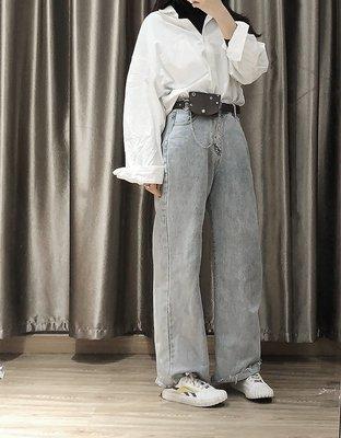 新款皮帶帶包包女士細皮帶裝飾掛包時尚百搭朋克小腰包時髦腰帶牛仔褲帶BF
