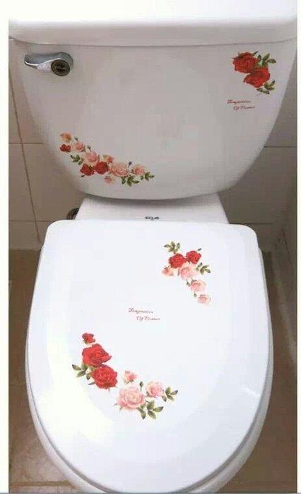 粉紅玫瑰精品屋~韓國進口貼紙*裝飾貼紙*馬桶貼瓷磚貼*電器貼-玫瑰任意貼~