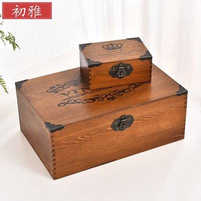 千夢貨鋪-歐式復古盒桌面收納盒創意木質...