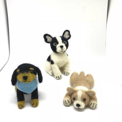 Smile寵物客製   羊毛氈小製品-臘腸狗