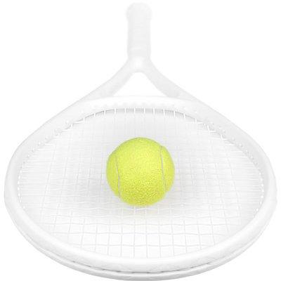 網球拍夢之藝/磨砂純白 初學者男女士新手練習 網球拍 單人訓練套裝
