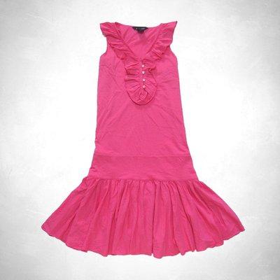 cocololo小舖:Polo Ralph Lauren 大女孩粉色Ruffle無袖洋裝 (XL號) r1(11639)