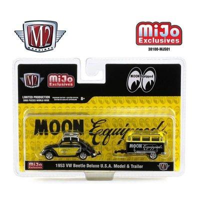 (I LOVE樂多)Mijo限定 MOONEYES X M2 1/64 1953 VW Beetle Deluxe