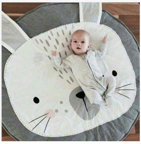 【愛媽媽孕婦裝】Baby'Room系列INS風北歐兒童寶寶遊戲毯ins爆款兔子爬行墊 推車被空調被兒童房裝飾