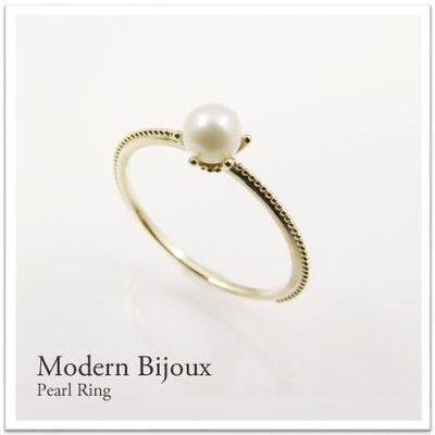 *misaki*の日本Jewelry純代購【日本網路飾品】【淡水真珠】10K金戒指【3種K金】【宮原店】