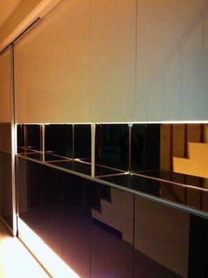 歐雅系統家具設計『鏡光和弦』現代風系統鞋櫃-E1V313低甲醛防潮塑合板 結晶鋼烤 茶鏡