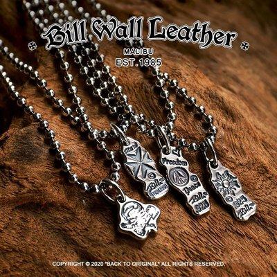 {BTO} 美國【Bill Wall Leather】925銀 多款塗鴉銀牌珠鍊項鍊