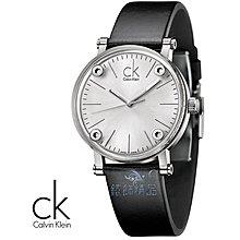 【錶飾精品】CK手錶/CK Calvin Klein K3B231C6 透視鏡面白面黑皮帶小 女錶全新原廠正品