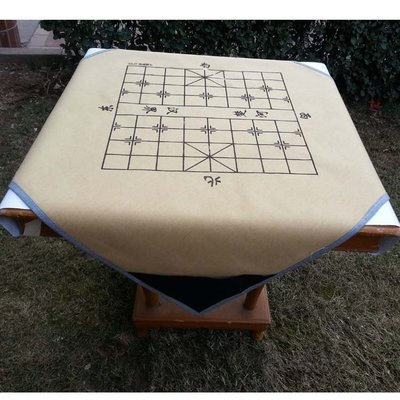 新品帶象棋盤棋譜的麻將墊子家用麻將布隔音臺布帶兜贈大骰子