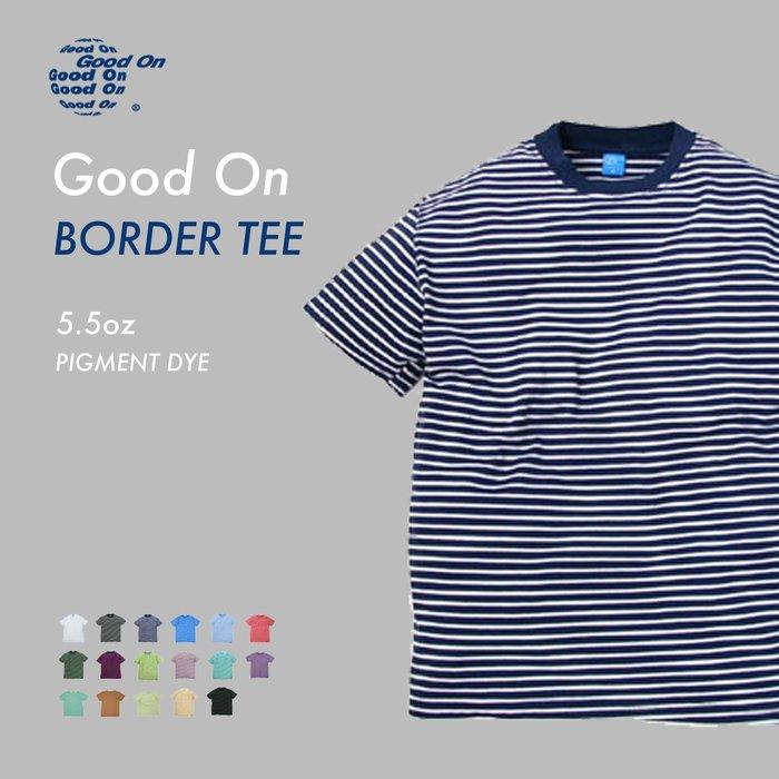 WaShiDa【GOST-206】Good On 日本品牌 染色 5.5oz 美國棉 條紋 滾邊 短袖 T恤
