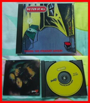 ◎1996年-日本版-瑞典龐克搖滾樂隊-No Fun at All-No Straight Angles專輯-等24首好
