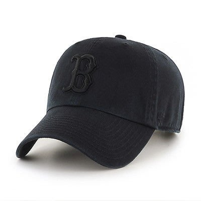 【YZY台灣】47 BRAND BOSTON RED SOX 紅襪 棒球帽 老帽 MLB LOGO 經典 全黑