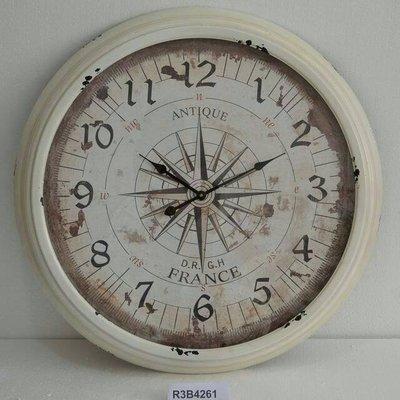 *Vesta 維斯塔*Loft美式指南針鐵藝超大時鐘(直徑92cm)