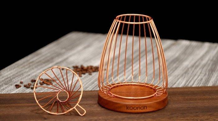 晴天咖啡☼ 玫瑰金手沖架 ( 不銹鋼沖架 )  濾杯架 咖啡手沖壺專用支架 質感佳