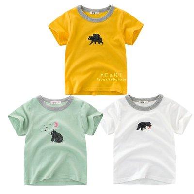 【可愛村】森林黑熊印花短袖T恤上衣 短袖 童裝 T-shirt