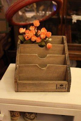 zakka糖果臘腸鄉村雜貨坊   雜貨類.舊化木盒.信封盒.名片盒.桌上收納(辦公室收納會場佈置開店用品筆筒遙控器廣告)