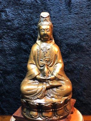 『華山堂』古董文物 早期收藏 老件銅器 觀音 觀世音菩薩 落款 大明宣德
