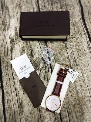 Daniel Wellington Classic St Mawes手錶 棕色 玫瑰金40mm 全新 現貨 保證真品