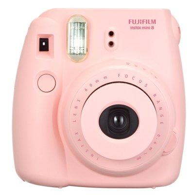 富士Fujifilm instax mini 8 拍立得相機公司貨 粉紅色富士 Mini 8馬上看相機 送卡通軟片10張