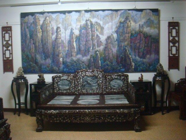 畫家作品及各類古董文物酸枝床桌椅銅木雕壽山石(雲石貝殼桌子)收藏(免費參觀)
