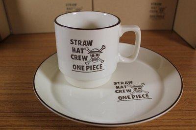 ☆海賊專賣店☆日版金證☆日本製 陶瓷 咖啡杯、咖啡盤 兩款合售 (白色) 另售 咖啡濾杯、餐盤、馬克杯 海賊王航海王