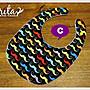 ♥gritas handmade♥純棉手作嬰幼兒圍兜兜/領巾/口水巾/三角巾/彌月禮—翹鬍子系列