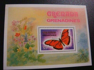 【大三元】BF21a各國蝴蝶專題系列-非洲郵票-迦納-新票小全張