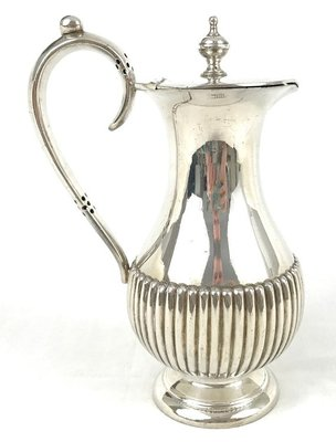 384 高檔英國鍍銀壺Antique Water Pot, Silver Plate, Half Ribbed