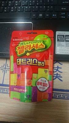 ~魔寶窩~韓國樂天LOTTE俄羅斯方塊造型軟糖,50克