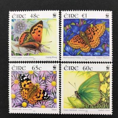 2005.05.24 #愛爾蘭 #WWF蝴蝶  套票4全 150元