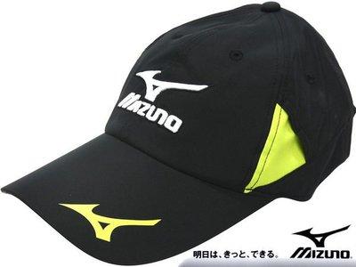 Mizuno J2TW-450509 黑色 輕量機能布運動路跑帽