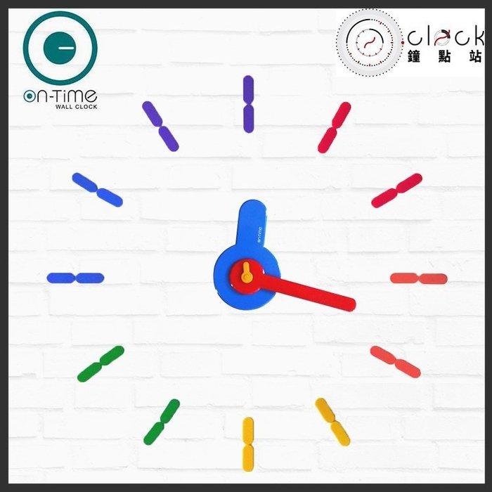 【鐘點站】On Time Wall Clock 彩虹-哆啦a夢-壁貼鐘-掛鐘.無損牆面.愛最大.居家佈置