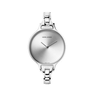 GEORG JENSEN 喬治傑生 CONCAVE 315系列 30mm光芒小錶盤金屬鍊帶女腕錶【真品現貨】