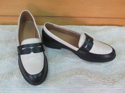 全新英國製【Hotter】中性鞋柔軟全真皮#US9.5/EU41.5/UK7.5/26男小腳女大腳米白深藍走路休閒鞋
