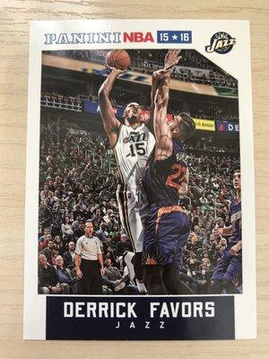 Derrick Favors #65 2015-16 Panini NBA Hoops