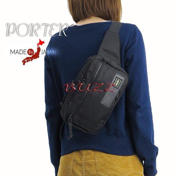 巴斯 日標PORTER屋- 黑色預購 PORTER RAYS 腰包-斜背包 831-16117