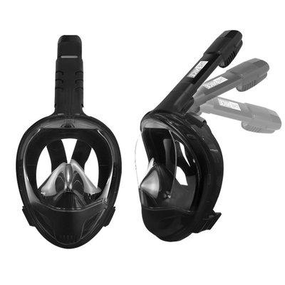 SK【THENICE 新款 雙管呼吸摺疊浮潛面罩】新一代 雙孔呼吸管 摺疊收納 面罩 泳鏡 蛙鏡 全罩式 【TND1】