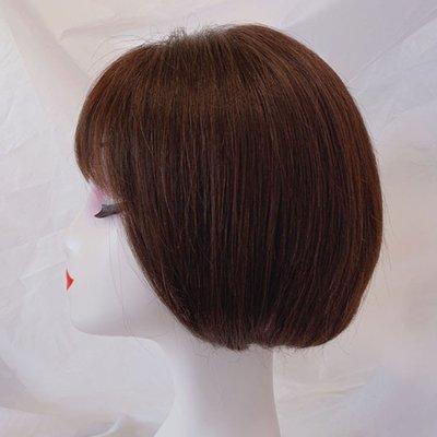 整頂假髮真髮絲短假髮-空氣瀏海內彎直髮女假髮2色73vr3[獨家進口][米蘭精品]